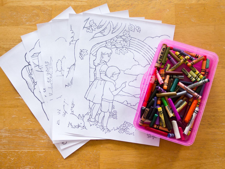 vertical surface coloring preschool general conference idea