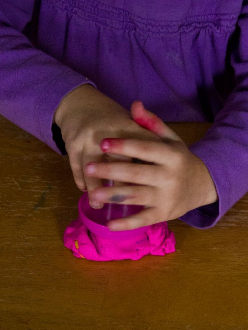 Use playdough to keep your child busy during General Conference. Super simple, but fun for your toddler.