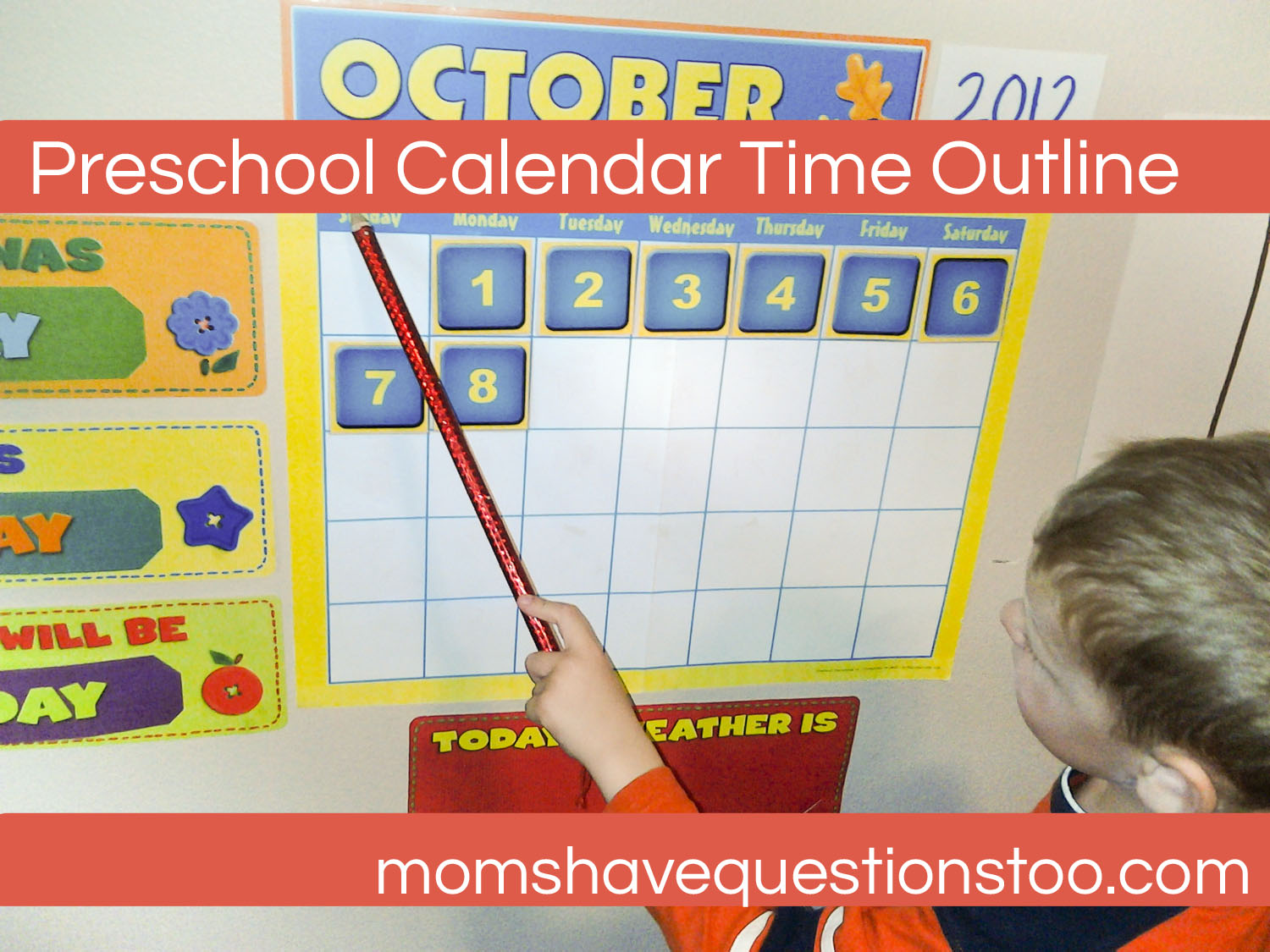 Kindergarten Calendar Time : Calendar time preschool moms have questions too