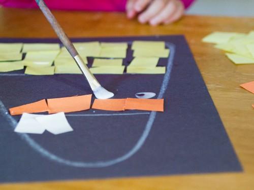 Candy Corn Paper Art Craft