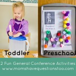 General Conference Activities — Popsicle Sticks in Milk Jug, Magnet Page