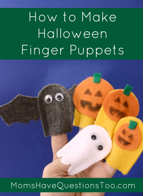 Halloween Finger Puppets Tutorial With Free Template