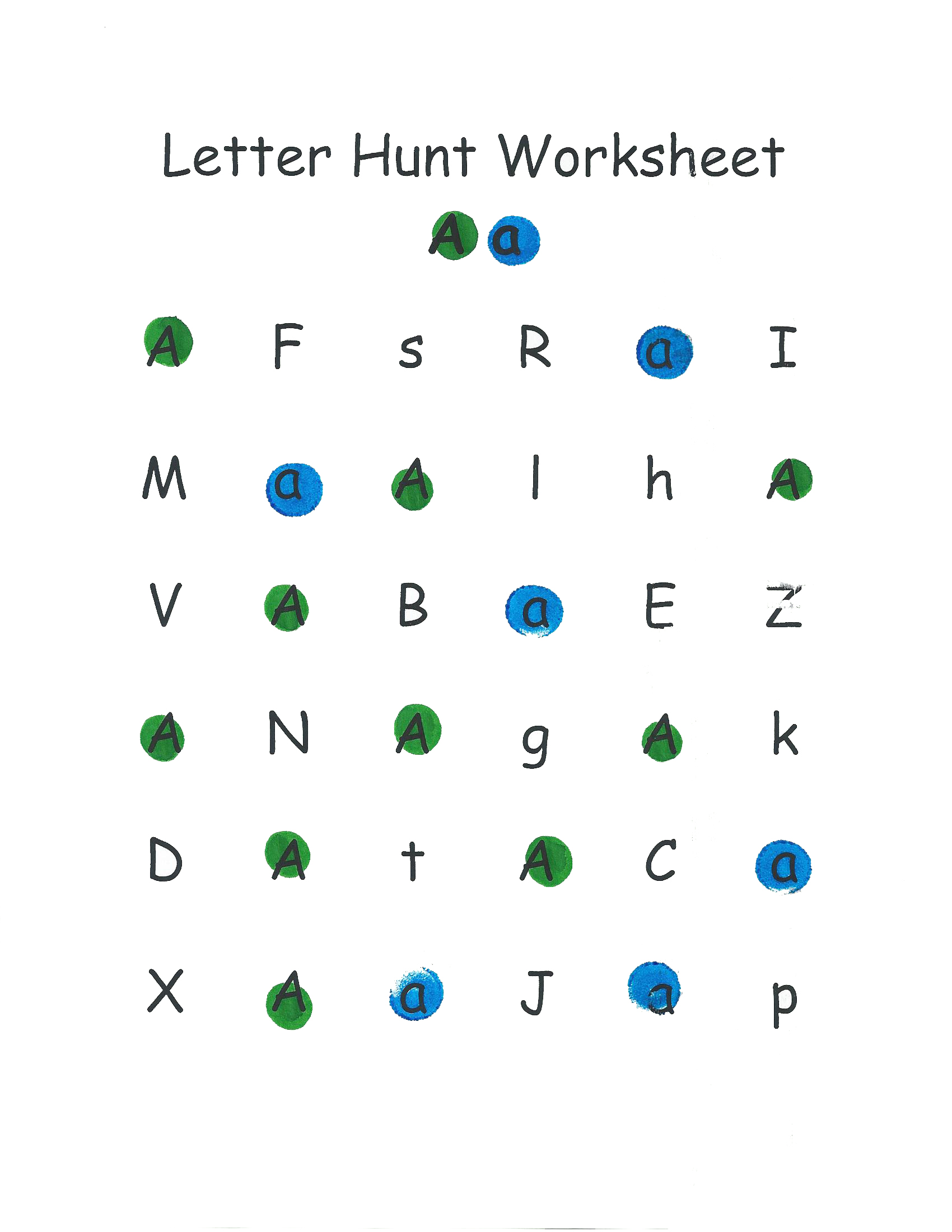 Letter Hunt Worksheet Walmart Paint Dab Markers Review