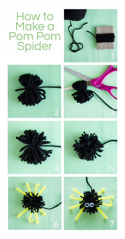 Pom Pom Spider Instructions