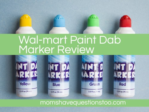 Walmart Paint Dab Markers Review. Also a quick review for Dollar Tree bingo dabbers and lots of links to fun dot marker pages.