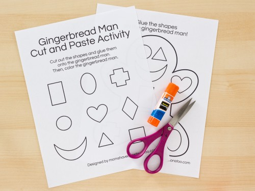 Gingerbread Man Cut and Paste Preschool Activity - Moms Have ...