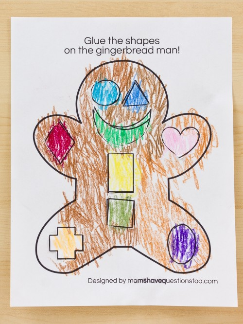 Gingerbread Cut and Paste Activity - Moms Have Questions Too