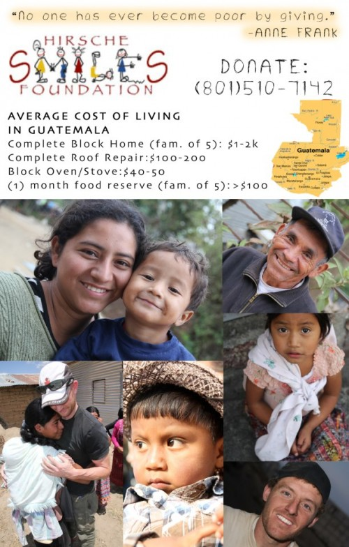 Donate to a good cause this Christmas! Help families in Guatemala have a home to live in