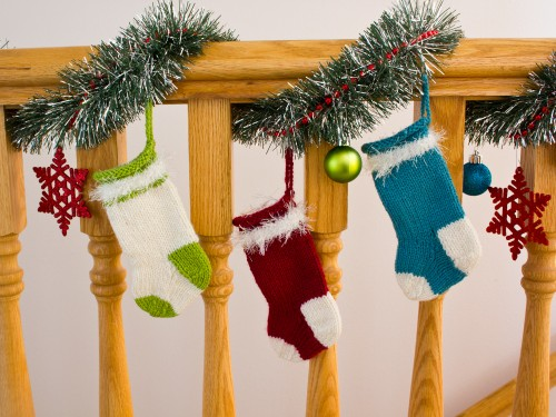 Homemade Christmas Decorations Knit Stockings -- Moms Have Questions Too