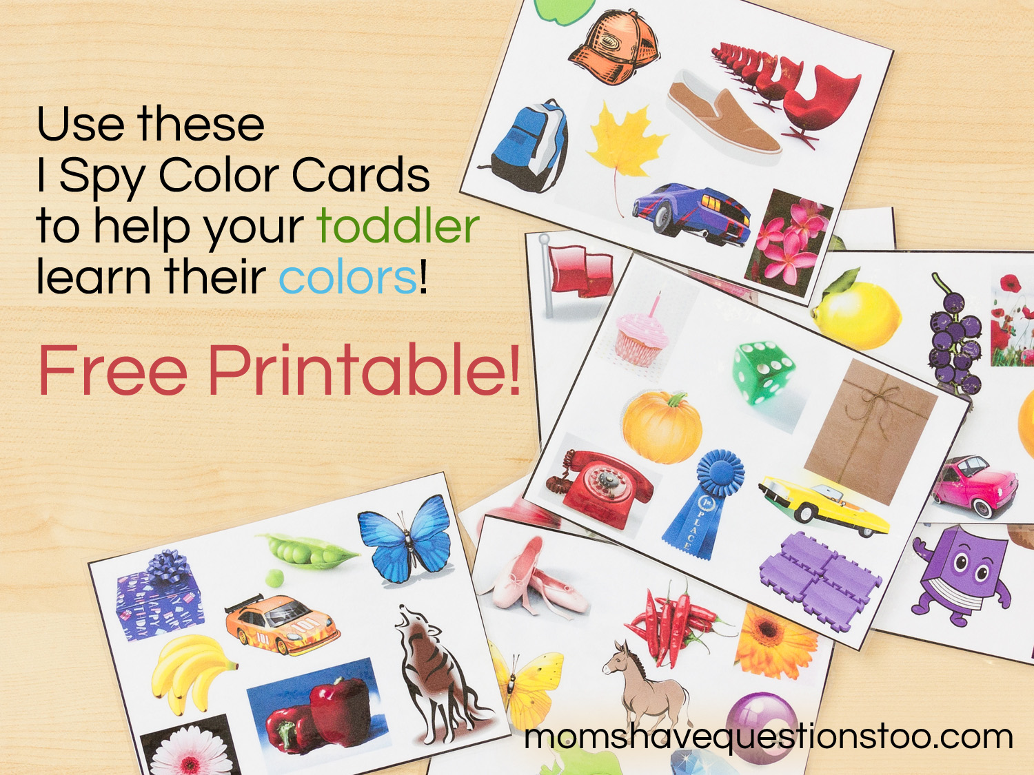 Color cards free - Color Games For Toddlers Part 2 I Spy Cards Moms Have Questions Too