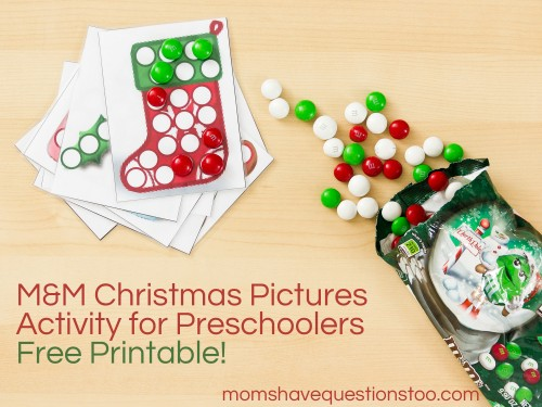 M&M Christmas Pictures, Free Printable! -- Moms Have Questions Too