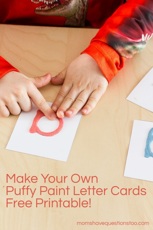 Puffy Paint Letter Cards, Replace Montessori Sandpaper Letters -- Moms Have Questions Too