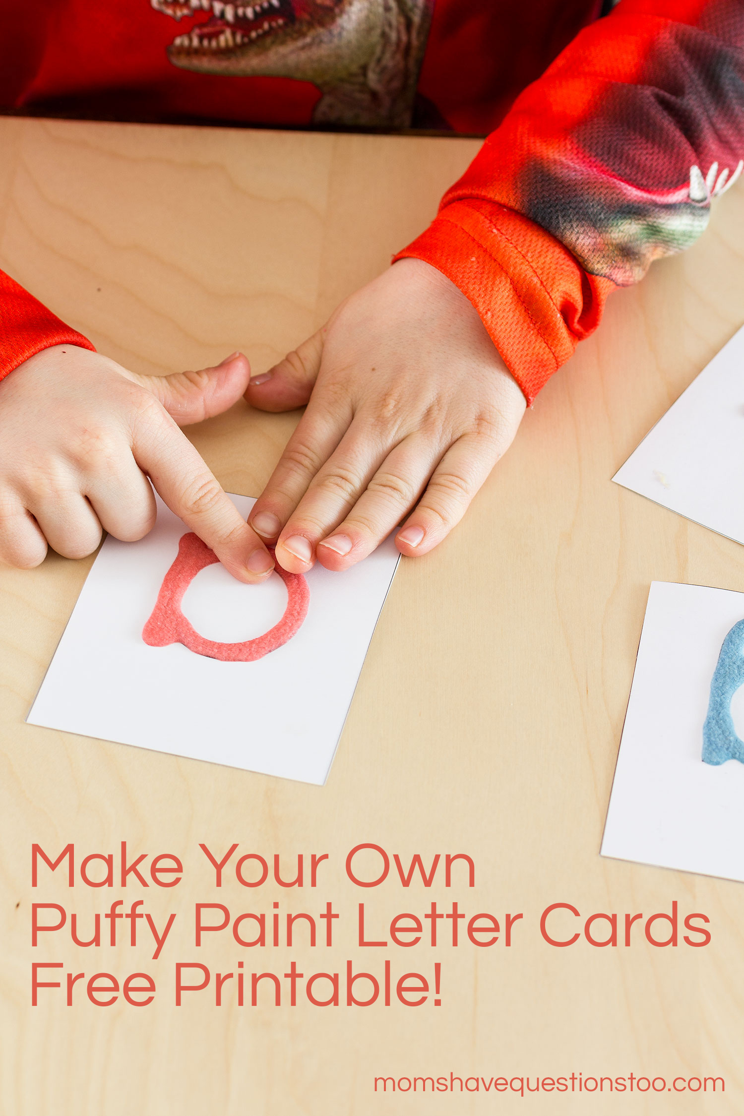 puffy paint letter cards montessori sandpaper letters alternative moms have questions too