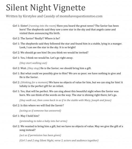 Silent Night Christmas Vignette