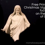 Silent Night Christmas Vignette