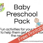 Baby Preschool Pack – The Perfect Gift for Families Expecting a Baby
