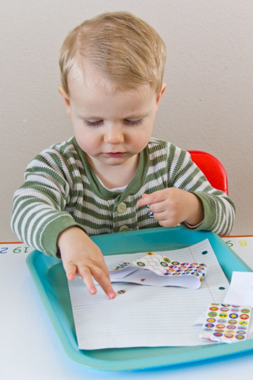 Car Stickers - Car Themed Tot School Trays -- Moms Have Questions Too