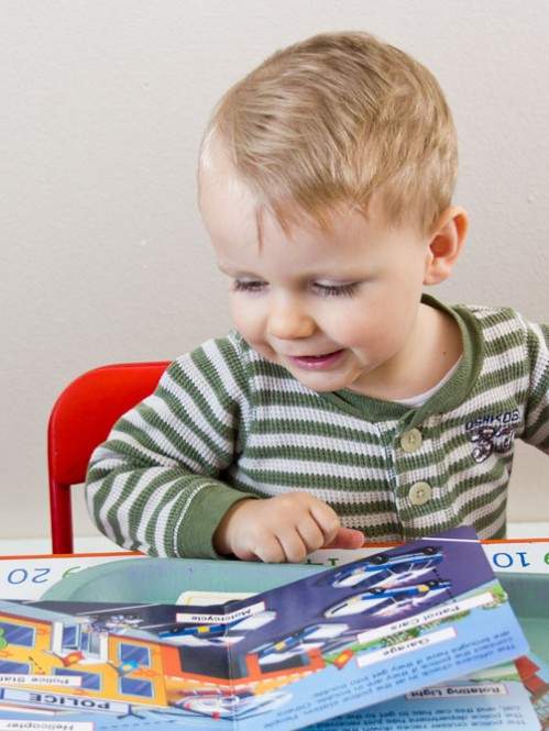 Car Books -- Car Themed Tot School Trays -- Moms Have Questions Too