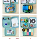 Car Themed Tot School Trays