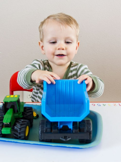 Car Themed Tot School Trays -- Moms Have Questions Too