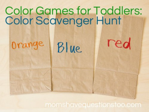 Color Games for Toddlers Part 9 - Color Scavenger Hunt - Moms Have ...