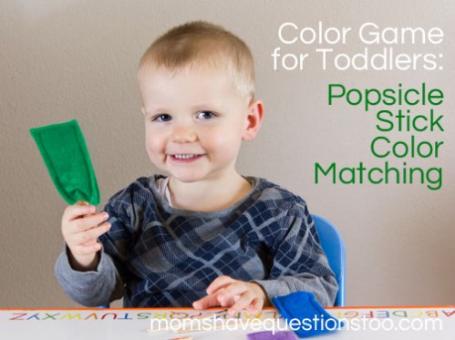 Color Games for Toddlers - Popsicle Stick Color Matching -- Moms Have Questions Too