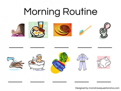 Morning Routine Chart -- Moms Have Questions Too