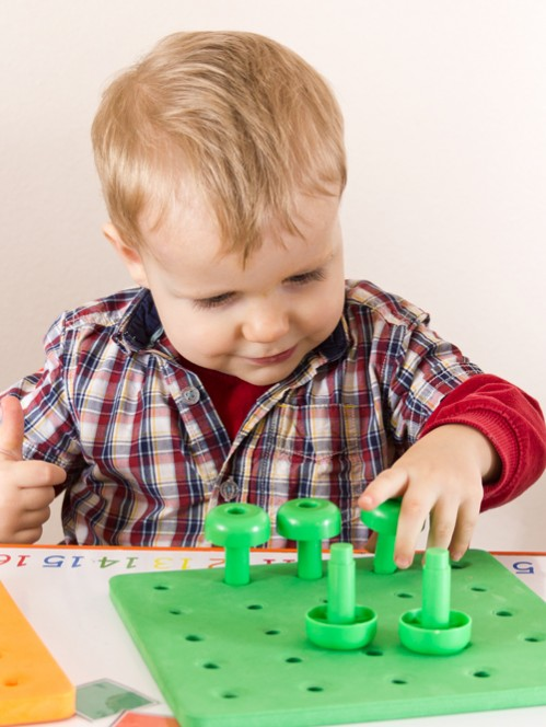 Pegboard Color Game for Toddlers -- Moms Have Questions Too