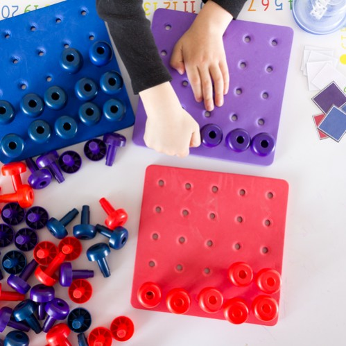 Pegboard color game for toddlers moms have questions too