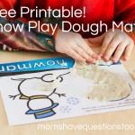 Snow Play Dough Mats