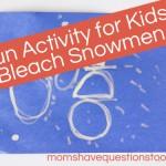 Winter Preschool Activity: Bleach Snowfall Craft