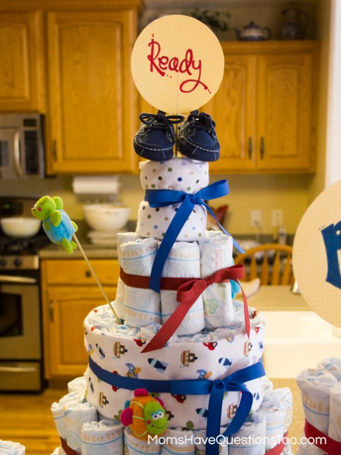Diaper Cake Tutorial -- Moms Have Questions Too