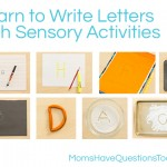 Learn How to Write Letters with Sensory Activities