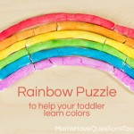 Color Games for Toddlers Part 12 — Rainbow Puzzle