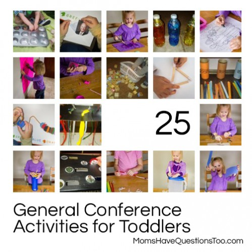 Over 25 General Conference Activities for Toddlers -- You're sure to find something for your child here.