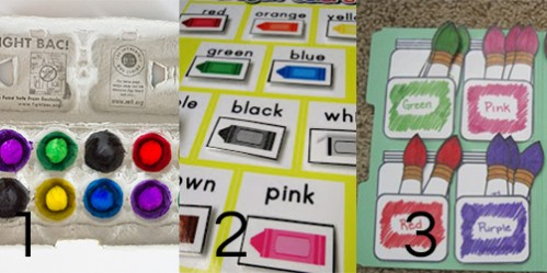 File Folder or Busy Bag Color Activities for Toddlers -- Moms Have Questions Too