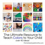 The Ultimate Resource to Teach Colors to Your Toddler