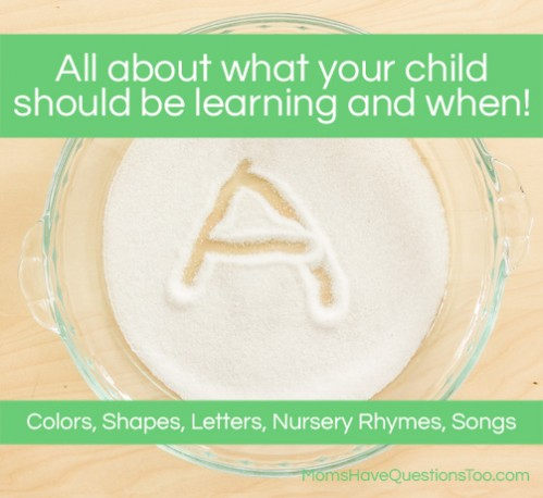 what age to start teaching your child colors shapes letters and more