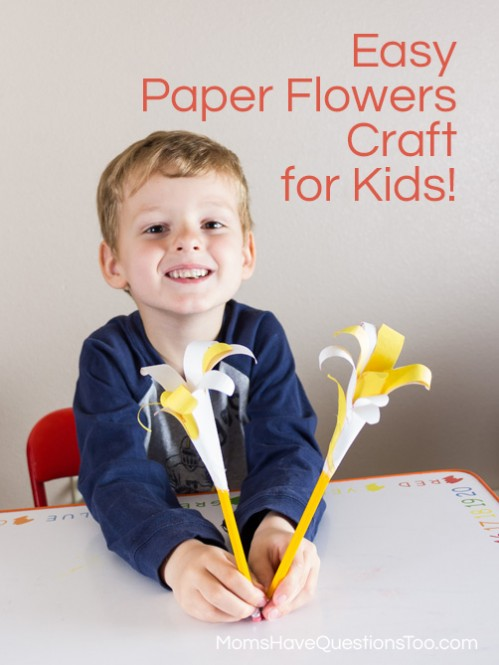 Fun Paper Lilies Spring Craft Idea for Preschoolers - Moms Have Questions Too