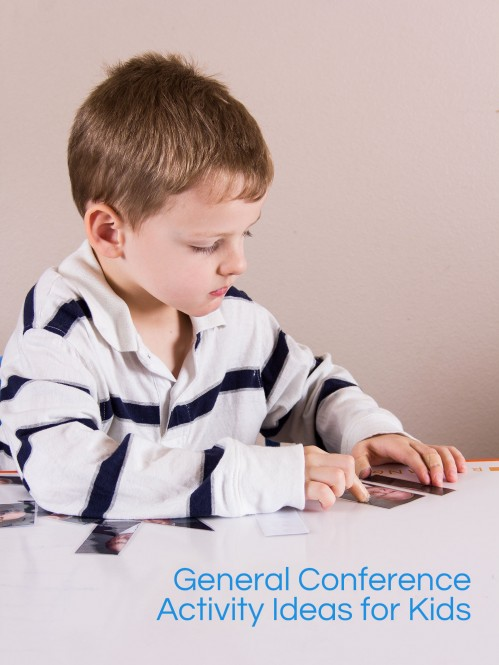 General Conference Activities for Toddlers and Preschoolers -- Moms Have Questions Too
