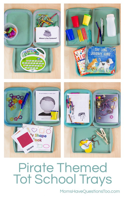 Montessori Pirate Themed Tot School Trays - Moms Have Questions Too