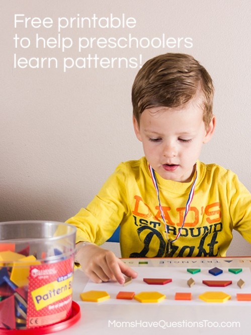 Patterns Activities for Preschoolers - Moms Have Questions Too