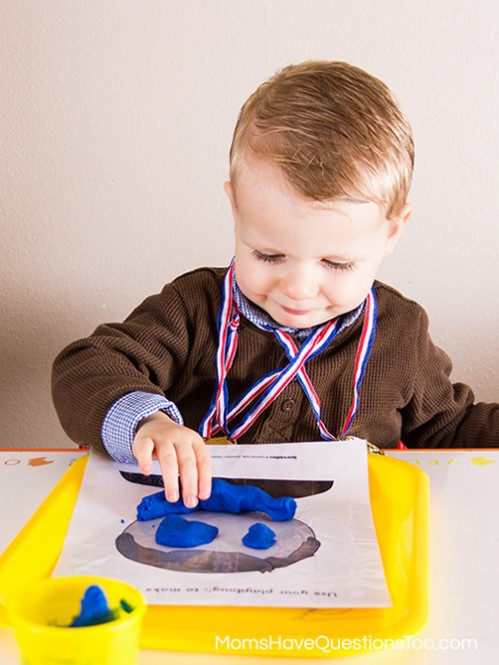 Playdough Faces - Montessori Pirate Themed Tot School Trays - Moms Have Questions Too