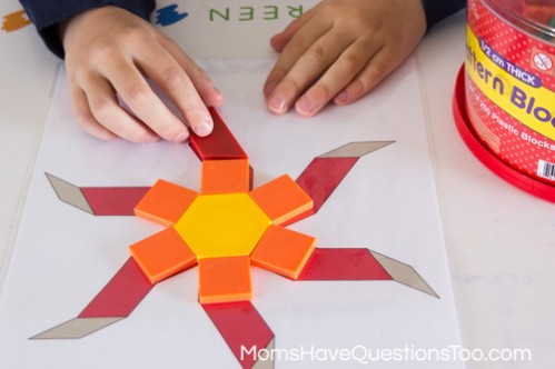 Pattern Block Template | Spring Pattern Block Templates Moms Have Questions Too