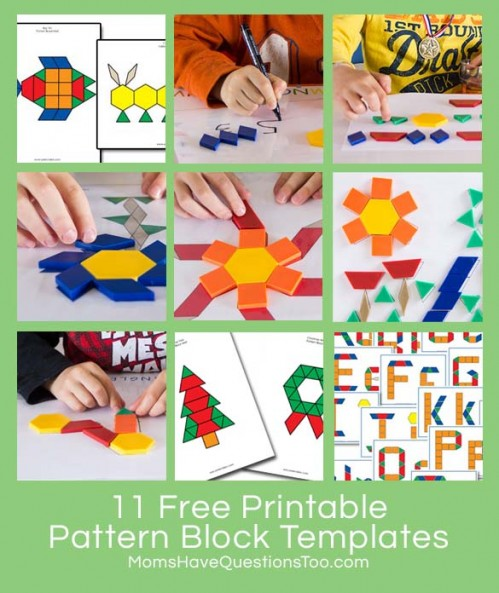 11 Free Printable Pattern Block Templates