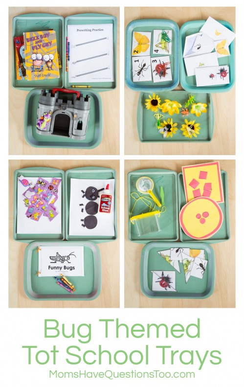 Bug Themed Tot School Trays - Moms Have Questions Too