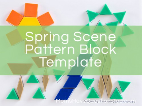 Spring Pattern Block Template - Moms Have Questions Too