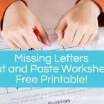 Missing Letters Cut and Paste Activity for Preschool