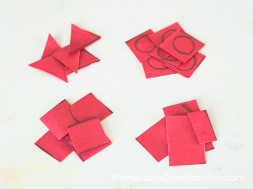 Pile of Shapes - Cutting Practice for Toddlers - Moms Have Questions Too