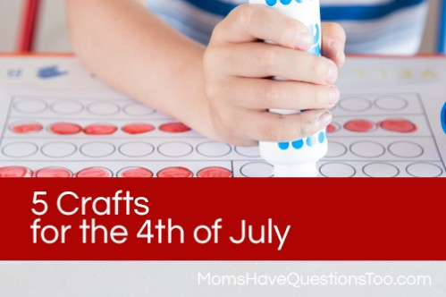 5 Crafts for the 4th of July www.momshavequestionstoo.com